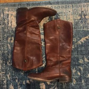 Frye brown leather suede riding boot